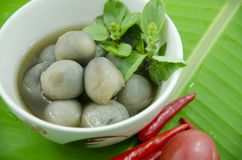 Thai traditional mushroom soup. Stock Images