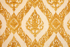 Thai traditional pattern on temple wall Royalty Free Stock Photos