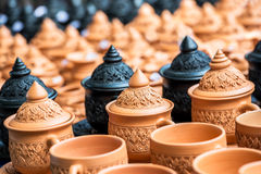 Thai traditional pottery Stock Image