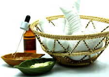 Thai Traditional Spa Herbal Massage Set in Tray Stock Photography