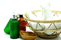 Thai Traditional Spa Herbal Massage Set in Tray Royalty Free Stock Image