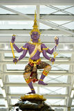 Thai Traditional statue in Suvanaphumi Airport Stock Images