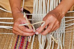 Thai traditional strips of bamboo Royalty Free Stock Photo