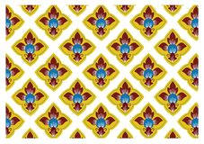 Thai traditional style art pattern Royalty Free Stock Photos