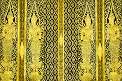 Thai traditional style door Royalty Free Stock Images