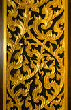 Thai traditional style door close up Royalty Free Stock Images
