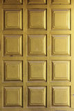 Thai traditional style door golden close-up, pattern Stock Images