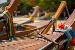 Thailand Long-tail Boats at Koh Phi Phi stock image
