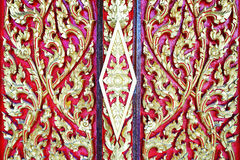 Thai traditional style pattern   carving Royalty Free Stock Photos