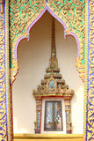 Thai traditional style window. In thai temple Stock Photos