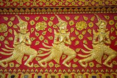 Thai traditional temple ornament Royalty Free Stock Image