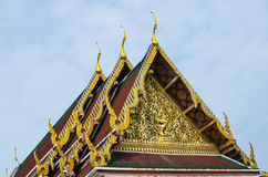 Thai traditional temple roof Stock Photos