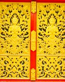 Thai traditional texture on gate Royalty Free Stock Photos