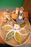 Thai traditional Thai herbs,from natural to drugs Royalty Free Stock Images