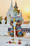 Thai traditional titan sculpture in Buddhist temple Royalty Free Stock Photos
