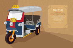 Thai traditional Tuk Tuk in Bangkok of Thailand. Thai traditional Tuk Tuk in Bangkok of Thailand, Illustration by  design EPS10 Royalty Free Stock Photography
