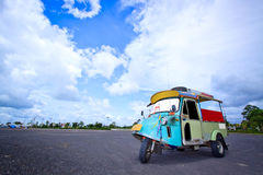 Thai traditional Tuk Tuk in Trang of Thailand Stock Photography