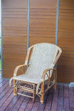 Thai traditional weaved chair Royalty Free Stock Photography