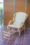 Thai traditional weaved chair Stock Image