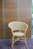 Thai traditional weaved chair Royalty Free Stock Photo