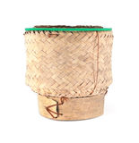 Thai traditional wooden rice box Royalty Free Stock Image