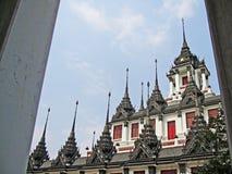thai traditionellt för arkitektur Arkivbild