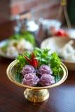 thai traditionellt för efterrätt Arkivbild