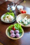 thai traditionellt för efterrätt Arkivfoto