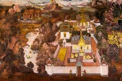 thai traditionellt för målningsstil Arkivbilder