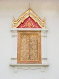 thai traditionellt fönster för stiltempel Royaltyfri Foto