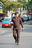 Thai traffic police officer Stock Images