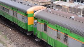 Thai train aerial view stock footage