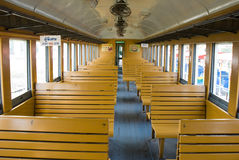Thai Train car - interior Royalty Free Stock Photos