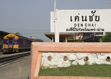 Thai train Denchai Northern Thailand tourist Royalty Free Stock Images