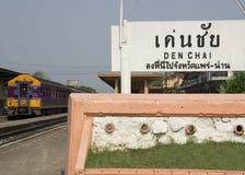 Thai train Denchai Northern Thailand tourist Royalty Free Stock Images