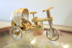 Thai tricycle invents from the bamboo Stock Photography