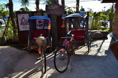 Thai tricycle models Royalty Free Stock Photos