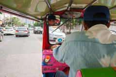 Thai tuk tuk taxi, Bangkok. Stock Photography