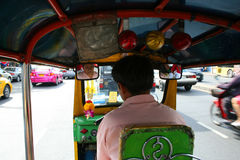 Thai Tuk Tuk taxi, Bangkok, Thailand. Royalty Free Stock Images
