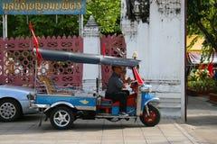 Thai tuk tuk taxi in Bangkok, Thailand. Stock Image