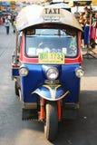 Thai Tuk Tuk taxi on Khaosarn road, Bangkok. Stock Images