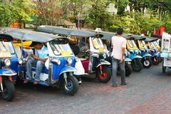 Thai Tuk Tuk taxi, Thailand. Royalty Free Stock Images