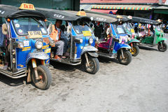Thai Tuk Tuk taxis, Thailand. Stock Photo