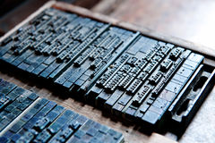Thai typeset word in letterpress Stock Photos