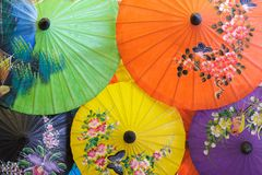 Thai umbrella Royalty Free Stock Photos