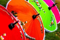 Thai umbrella. The color of Thai umbrella Stock Photos