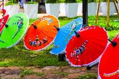 Thai umbrella. The color of Thai umbrella Stock Images