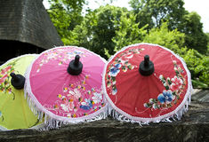 Thai umbrellas Stock Images
