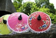 Thai umbrellas Stock Images