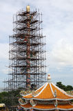 thai under för konstruktionstempel Arkivbilder